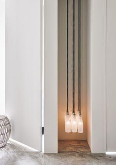 Art in lighting Dj Lighting, Custom Lighting, Interior Lighting, Lighting Design, Pendant Lamp, Pendant Lighting, Ceiling Lamp, Ceiling Lights, Japanese Bar