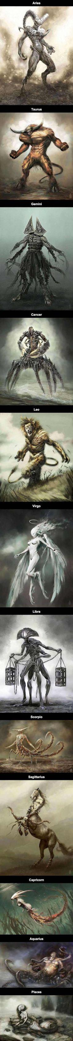 Zodiac signs reimagined - Imgur