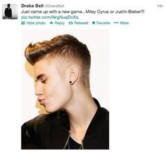 I love how Drake Bell just hates Justin Bieber so much. I laugh at all the tweets!