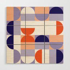 Buy Minimal Bauhaus Semi Circle Geometric Pattern 1 - Wood Wall Art by dominiquevari. Bauhaus Art, Bauhaus Textiles, Bauhaus Interior, Wood Jewelry Display, Wood Patterns, Modern Patterns, Circle Art, Wood Wall Art, Wood Walls