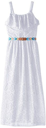 Amy Byer Big Girls' Belted Lace Maxi Dress, White, Small Amy Byer http://www.amazon.com/dp/B00QN9V6F0/ref=cm_sw_r_pi_dp_1tqAvb0H1XJSG