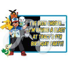 Pokemon Personalized Party Favor