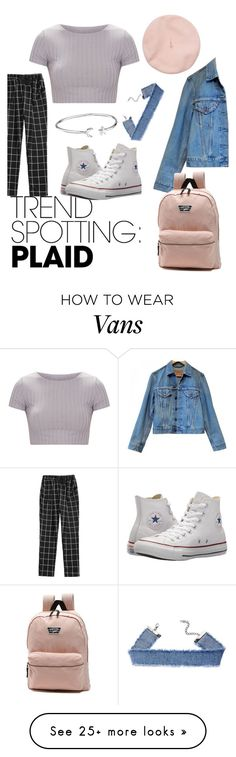 """Untitled #256"" by holod-alex on Polyvore featuring Levi's, Converse, Vans, Alex and Ani, contestentry and NYFWPlaid"