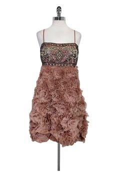 Sue Wong- Mauve Empire Waist Dress Sz 12 | Current Boutique