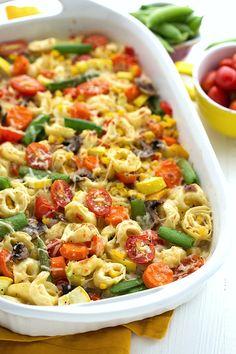 Creamy Tortellini and Veggie Bake2