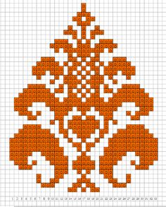An Arabesque Pattern. Cross stitch chart. #cross_stitch