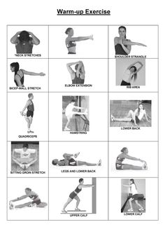 Warm-up routine! Crucial to avoiding injury and preparing your body for exercise.
