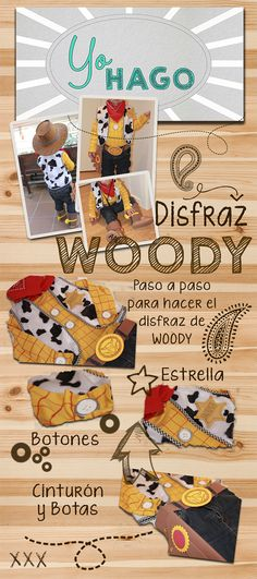 Tutorial paso a paso Disfraz de Woody ( Toy Story )