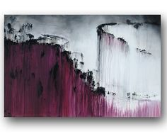 Wine Purple Painting Contemporary Abstract by heatherdaypaintings, $275.00