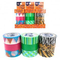 9 Rolls Elmer's Washi Designer Tape - Translucent, Acid Free!