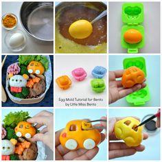 Little Miss Bento  シャリーのかわいいキャラベン: Tutorial for Using Egg Mold in Bento