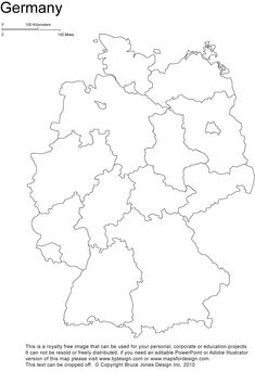 germany printable blank map, Berlin, europe, royalty free,