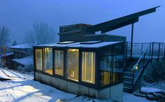 modern style greenhouse attached to studio, Boise Idaho, built by Greenhouses, Etc. Boise Idaho, Greenhouses, Train, Studio, Building, Modern, Style, Green Houses, Swag