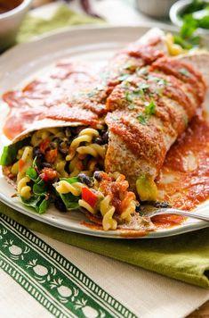 Mexican Mac Burrito