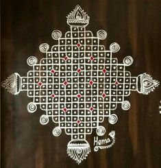 Rangoli Designs With Dots, Rangoli Designs Images, Beautiful Rangoli Designs, Indian Rangoli, Kolam Rangoli, Simple Rangoli, Diwali 2018, Padi Kolam, Diwali Festival