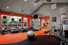 That home gym! colors especially. black, grey and orange.