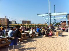 6 Cool City Beaches in Amsterdam: Dig your toes into the sand, look out over the water, sip a cold drink and listen to some summertime tunes. Here are 6 city beaches in Amsterdam where you can do just that! - Awesome Amsterdam