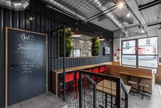 District of Wilda in city of Poznan has a new venue for burger and Belgian fries lovers – ChiChi 4U. New interior design comes from architects of mode:lina studio.This is a second spot branded with ChiChi 4U logo. First one is a well known black shippin…