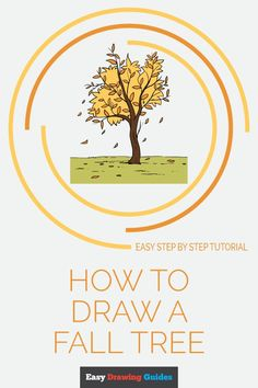Learn to draw a fall tree. This step-by-step tutorial makes it easy. Kids and beginners alike can now draw a great looking autumn tree. Landscape Drawing For Kids, Tree Drawing For Kids, Nature Drawing, Landscape Drawings, Cool Landscapes, Flower Drawing Tutorials, Drawing Tutorials For Kids, Drawing For Beginners, Drawing Ideas