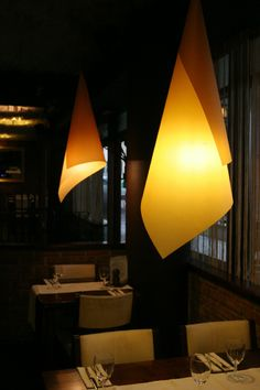 Light from copper and gold paper,Restauranr Infinity Prague,Made by TomasBudil.cz