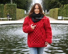 Passion123 auf Etsy Knitting Needles, Hand Knitting, Handgestrickte Pullover, Thick Sweaters, Women's Sweaters, Men Sweater, Turtle Neck, Wool, My Style