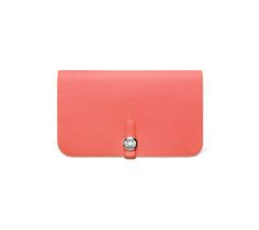 hermes Dogon Duo bamboo green wallet womens