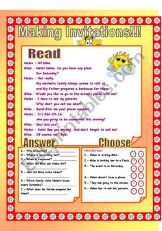English teaching worksheets invitations telephone conversation ws about how to make an invitation it includes a conversation questionsto answer stopboris Choice Image