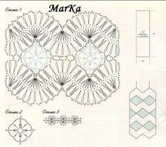 Na widelkach 4 - TitinaKrkM - Picasa Web Album Hairpin Crochet Pattern, Hairpin Lace Patterns, Irish Crochet Patterns, Crochet Symbols, Crochet Chart, Love Crochet, Thread Crochet, Crochet Lace, Crochet Stitches