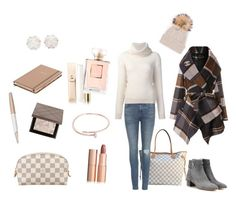 """First of November staying cozy and bright X"" by lijalinn on Polyvore featuring Chanel, Louis Vuitton, Kate Spade, Swarovski, Cartier, rag & bone, Chicwish, Burberry, Maiyet and Tallis"