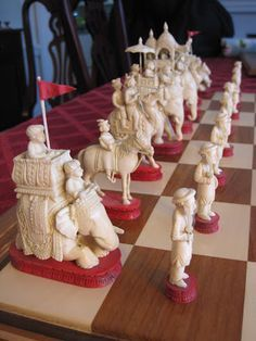 Photo: Chess Moves, Chess Set Unique, Art Through The Ages, Chess Table, Chess Players, Chess Pieces, Hobbies And Crafts, Board Games, Chess Boards