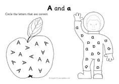 Printable alphabet worksheets where children circle the correctly orientated letters in uppercase and lowercase. Printable Alphabet Worksheets, Free Printables, Free Teaching Resources, Uppercase And Lowercase, Initial Letters, Kindergarten, Oriental, Initials, Preschool