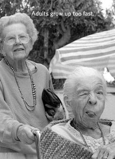 """Photo: """"Old People Are Cute"""" / photographer: unknown, via balticlapse Jean Shinoda Bolen, Foto Face, Old Folks, Old Age, Young At Heart, Forever Young, Friends Forever, Old Women, Belle Photo"""