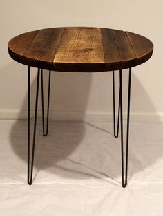 Superieur Bistro Table With Hairpin Legs, Round Table, Reclaimed Wood Table