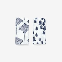 Seaweed + Stingray Burp Cloth Set | Denim