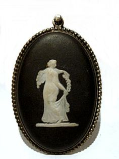 Antique Wedgwood Cameo Set In Sterling Silver
