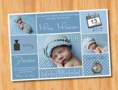 Ausgefallene Dankeskarten Baby Geburt 230 - Bild vergrößern