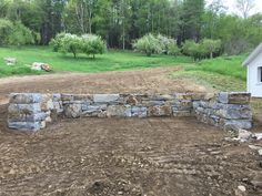 Stone compost bunker.