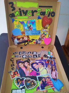 """Caja de Pizza Sorpresa """"Aniversarios, Cumples, Regalos"""" (interior de la caja)"""