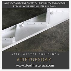 This industrial base connector saves you time, money, and headaches! This connector allows your SteelMaster to be portable. It also reduces the time of construction and future maintenance costs.