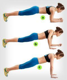 ces différentes variations de gainage vous permettront de rendre vos abdos plus effectifs! http://www.womenshealthmag.com/fitness/plank-exercise?cm_mmc=Pinterest-_-womenshealth-_-content-fitness-_-makeplanksharder
