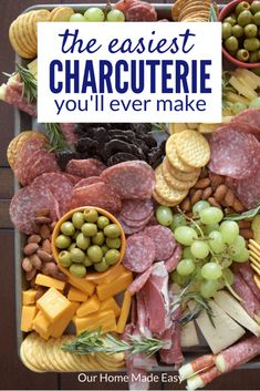 Minute Charcuterie This is the easiest no bake appetizer ever! Simply use high quality ingredients for the best tasting charcuterie.This is the easiest no bake appetizer ever! Simply use high quality ingredients for the best tasting charcuterie. Charcuterie Recipes, Charcuterie Platter, Charcuterie And Cheese Board, Cheese Boards, Meat Cheese Platters, Antipasto Platter, Snacks Für Party, Appetizers For Party, Appetizer Recipes