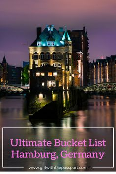 """The bucket list for Hamburg Germany!! Before wereveal the ultimate bucket list for Hamburg Germany, let's learn a little more about the city itself. Hamburg is the second largest city in Germany and is better knownas the, """"Gate to the World."""" This cityis home to one of the largestports in the world: a port of …"""