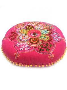 Indisches Bodenkissen Yogakissen Mirza - 2 - 75cm | Aus Stoff | Orientalische Sitzkissen |