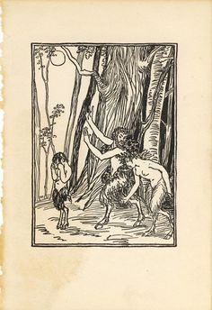 Satyrs and the Moon Book Plate by WaveSong on Etsy