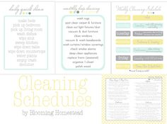Home Organization Printables - Page 4 of 4 - Blooming Homestead