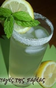 Λεμονάδα #sintagespareas Cocktail Drinks, Cocktails, Tasty, Yummy Food, Glass Of Milk, Smoothies, Beverages, Food And Drink, Alcohol