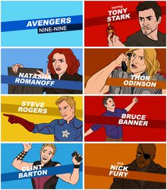I was just thinking about this yesterday. Which Avenger would be which character from B99 and I got half of them right! Loving how Iron Man and Cap are Jake and Amy.