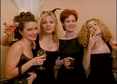 "The ""singles"" table at a wedding.  SATC."
