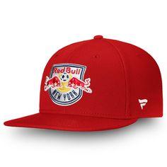 Men s New York Red Bulls Fanatics Branded Red Primary Emblem Snapback Adjustable  Hat ee270c5c338d