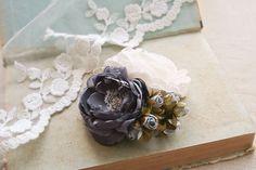 Wedding Bridal Hair Accessory, Bridal Flower Hairpiece, Flower Clip, Vintage Style Wedding Fascinator, Ivory Grey Rose Bridesmaids Headpiece by BelleBlooms on Etsy https://www.etsy.com/listing/203059761/wedding-bridal-hair-accessory-bridal